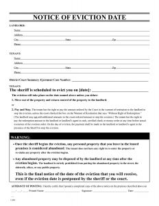 Notice Of Eviction Letter Template - Eviction Letter Template Free 2018 Free Eviction Notice form New
