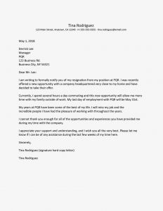 30 Day Notice Letter Template - Resignation Letter for A New Job Opportunity