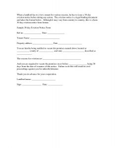 30 Day Notice to Vacate Letter Template - Eviction Letter Template Collection