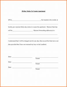 30 Day Notice to Vacate Letter Template - Moving Address Letter Template New How Write A 30 Day Notice Letter