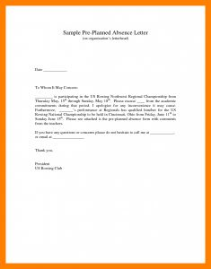 Absence From School Letter Template - format Excuse Letter for Being Absent Fresh Le as Absence In