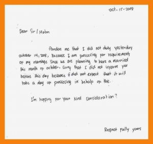 Absence From School Letter Template - format Excuse Letter for Being Absent Fresh 8 Excuse Letter for