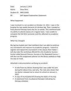 Academic Dismissal Appeal Letter Template - Finaid the Financial Aid Information Page Example Of Appeal Sample