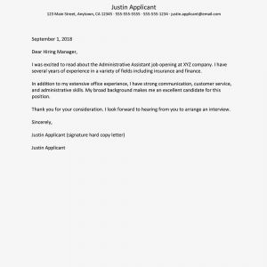 Administrative Cover Letter Template - Cover Letter Samples for Business and Administration Jobs