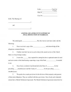 Affidavit Of Support Template Letter - Affidavit Of Support Sample Letter Marriage