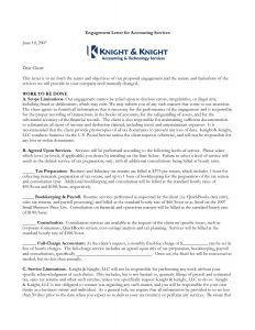 Agreed Upon Procedures Engagement Letter Template - Tax Engagement Letter Template Collection