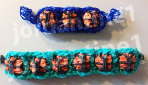 Alpha Loom Letter Template - New Basketball Bracelet March Madness Rainbow Loom Advanced