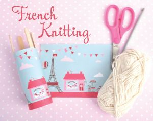 Alpha Loom Letter Template - How to Do French Knitting