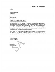 Annual Bonus Letter Template - Chiswickbookfestival Page 5 Of 28 Free Download Image Letter