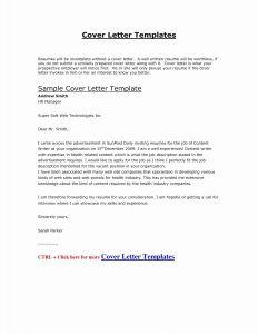 Application Letter Template - Cover Letter Resume Template Inspirational Job Application Letter