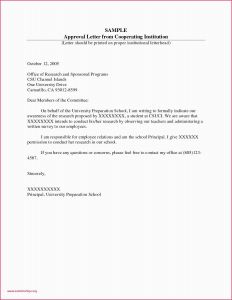 Approval Letter Template - Letters Giving Information Example Letter for Permission to Teach