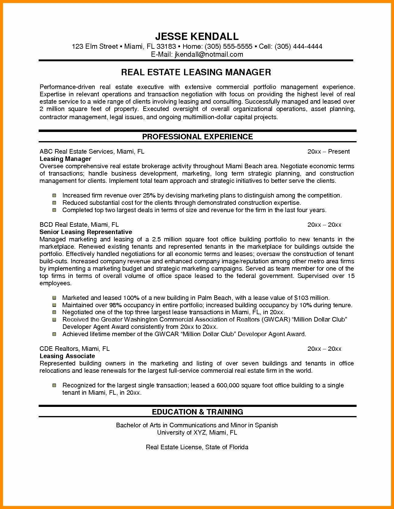 Attorney Letter Template - Real Estate attorney Resume New Sample Resume for Property Manager
