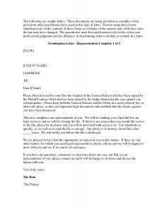 Attorney Termination Letter Template - attorney Termination Letter Template Download