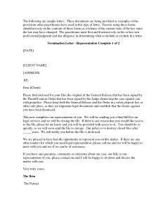 Attorney Termination Letter Template - attorney Termination Letter Template Download