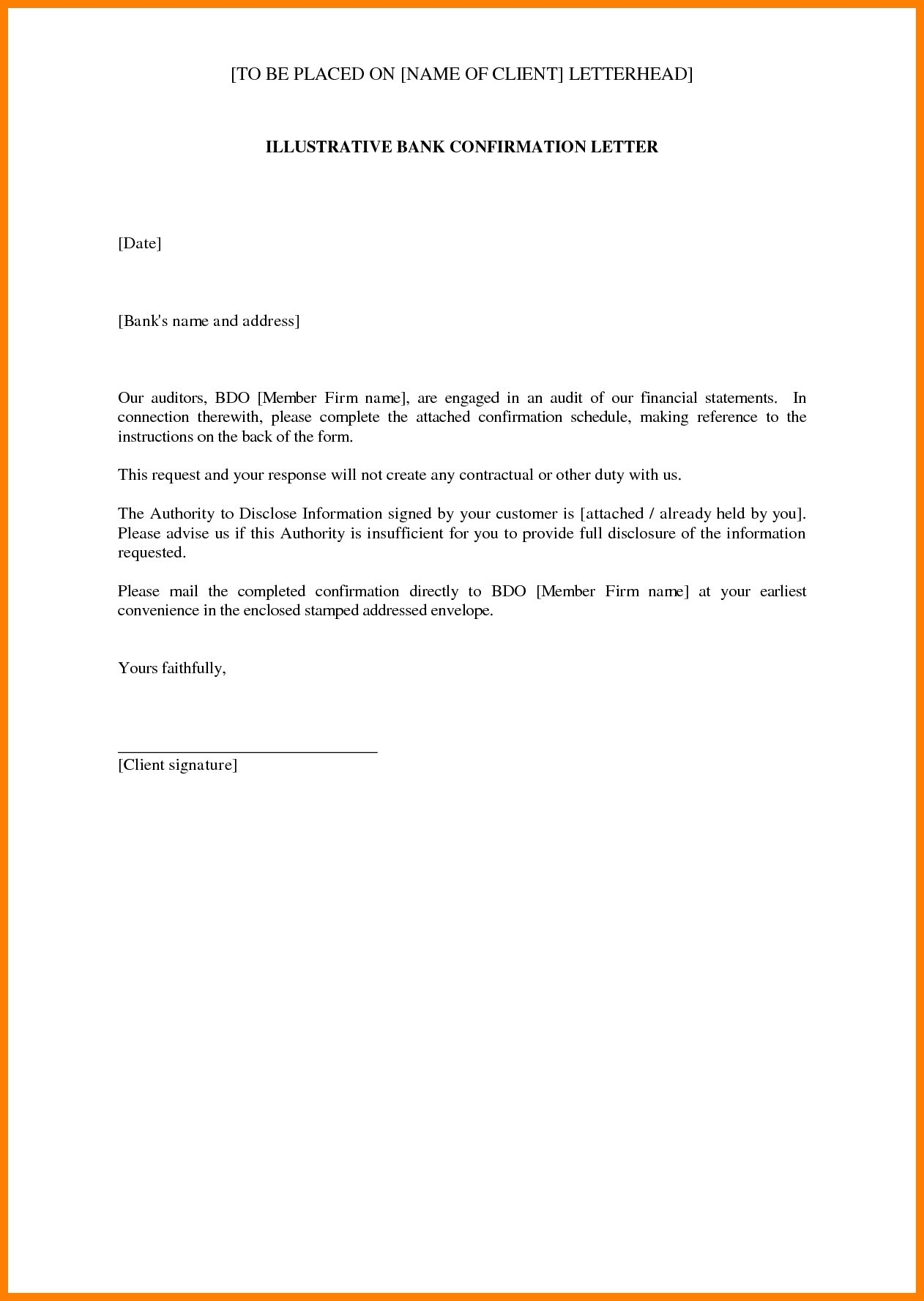 audit confirmation letter template Collection-audit confirmation letter template 12-j