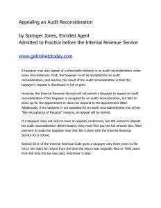 Audit Reconsideration Letter Template - Audit Reconsideration Letter Template Examples