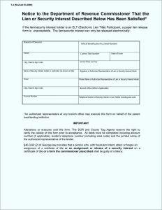 Auto Lien Release Letter Template - Lien Release Letter Template