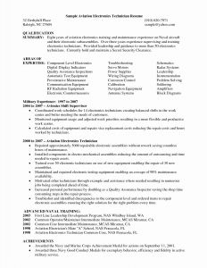 Aviation Cover Letter Template - Sample Resume for Maintenance Technician Best 43 Fresh Cover