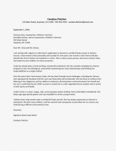 Back to School Parent Letter Template - A Sample Reference Letter for Foster Parenting