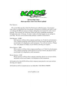 Baseball Sponsorship Letter Template - Image Result for Sample Sponsor Request Letter Donation