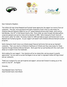 Baseball Sponsorship Letter Template - Letter asking for Golf Sponsorship New Sample Letter Requesting