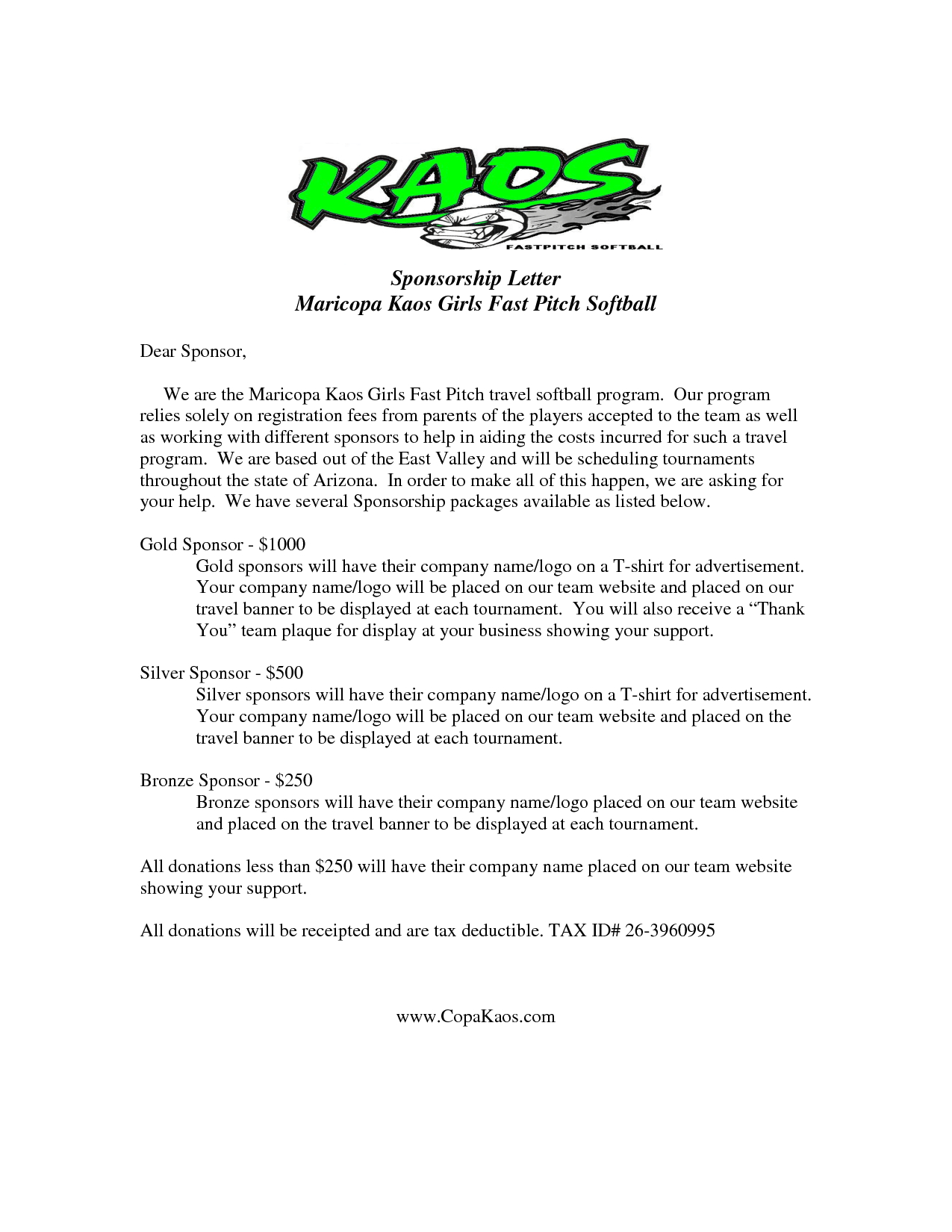 baseball sponsorship letter template example-Image result for sample sponsor request letter donation 2-m