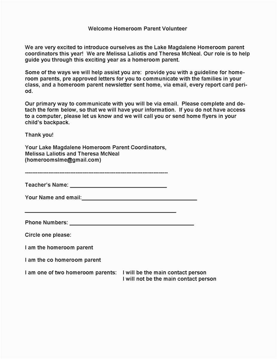 15 behavior letter to parents from teacher template