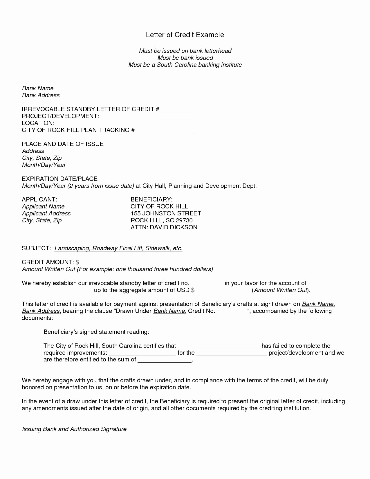 beneficiary letter template Collection-sample of letter of credit 8-f