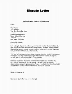 Billing Dispute Letter Template - Collection Dispute Letter Template 2018 Free Section 609 Credit