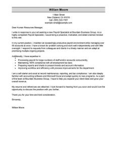 Blank Love Letter Template - Best Payroll Specialist Cover Letter Examples