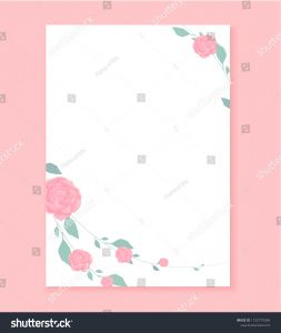 Blank Love Letter Template - Love Letter Blank Template Rose Flower Stock Vector Royalty Free