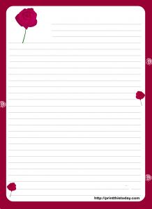 Blank Love Letter Template - A Cute Letter Writing Paper Decorated with Cute Hearts is Great to