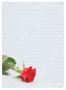 Blank Love Letter Template - Blank Love Letter isolated Pure White Background Inside