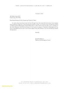 Board Member Resignation Letter Template - Letter Resignation From Board New Church Resignation Letter