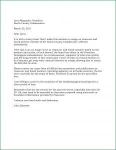 Board Member Resignation Letter Template - Board Member Removal Letter Template Samples