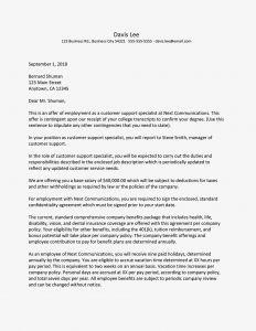 Bonus Letter to Employee Template - Sample Job Fer Letter Suited for Most Jobs