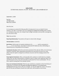 Bonus Letter to Employee Template - Sales Representative Job Fer Letter Sample