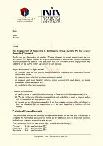 Bookkeeping Engagement Letter Template - Bookkeeping Engagement Letter Template Collection