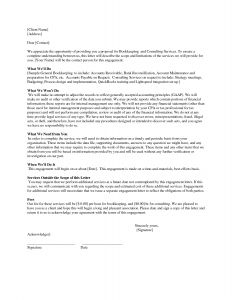 Bookkeeping Engagement Letter Template - Bookkeeping Engagement Letter Template Download