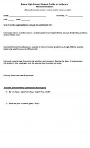 Brag Sheet Template for Letter Of Recommendation - Sample Letter Re Mendation for Munity Service Volunteer
