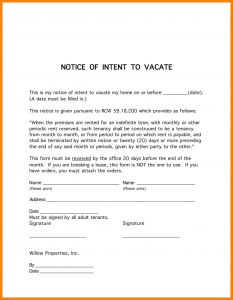 Breaking Lease Letter Template - Tenancy Notice Letter Template Examples