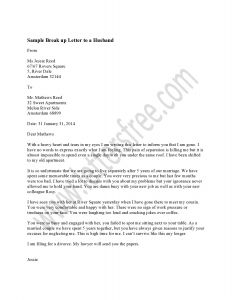 Breakup Letter Template - How to Write A Breakup Letter