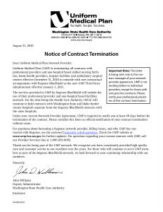 Business Contract Termination Letter Template - Service Contract Termination Letter Template Samples