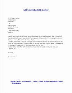 Business Introduction Letter Template - 39 New Template for Cover Letter