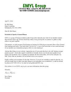 Business Invitation Letter Template - Business Invite Letter