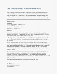 Business Letter Of Recommendation Template - Sample Letter Re Mendation Template Collection