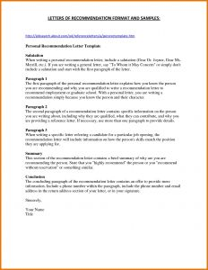Business Letter Of Recommendation Template - Reference Letter Template for Student Collection