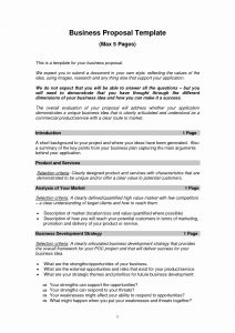Business Proposal Letter Template - Templates for Writing A Business Plan Awesome Sample Business Letter