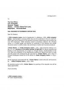 Business Visa Invitation Letter Template - Visa Invitation Letter Template Usa Business Collection