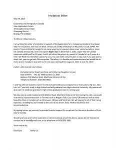 Business Visa Invitation Letter Template - Visa Letter Template Download